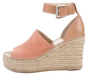 Marc Fisher Suede Espadrille Wedges
