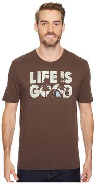 Life is Good Campground Smooth Tee Men's Short Sleeve Pullover