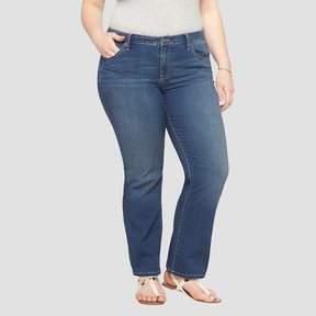 Ava & Viv Women's Plus Size Bootcut Denim Jeans