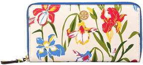 Tory Burch ROBINSON FLORAL ZIP CONTINENTAL WALLET - PAINTED IRIS - STYLE