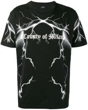 Marcelo Burlon County of Milan Lightning Logo Print T Shirt