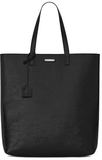 Saint Laurent Women's Black Leather Tote. - BLACK - STYLE
