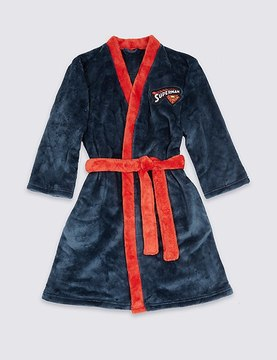Marks and Spencer SupermanTM Dressing Gown with Belt (4-16 Years)