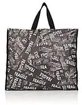 MM6 MAISON MARGIELA Women's Fragile Oversized Tote Bag-Black