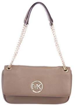 MICHAEL Michael Kors Logo Flap Leather Shoulder Bag