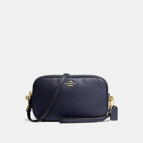 COACH Coach Crossbody Clutch - LIGHT GOLD/NAVY - STYLE