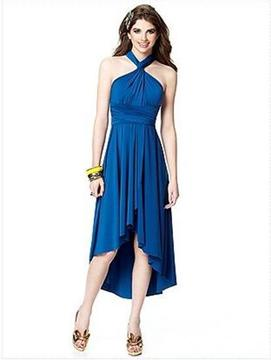 Dessy Collection TWISTPRM1 Dress In Sapphire