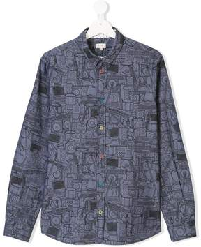 Paul Smith TEEN musical instrument print shirt