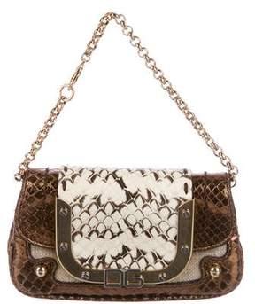Dolce & Gabbana Snakeskin & Canvas Mini Bag