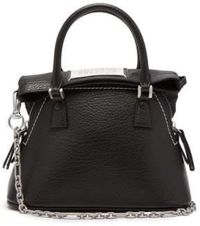 Maison Margiela 5ac Mini Leather Cross Body Bag - Womens - Black