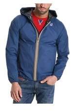 K-Way Men's Blue Polyester Outerwear Jacket.
