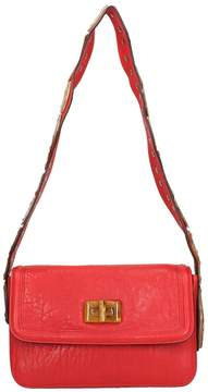 RED Valentino Red Leather Snake Shoulder Bag