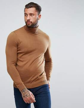 New Look Turtleneck Sweater In Camel