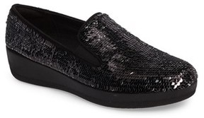 FitFlop Women's Superskate Sequin Slip-On Sneaker