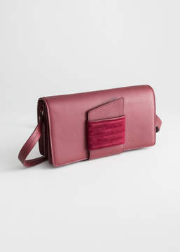 And other stories Leather Pull Through Crossbody