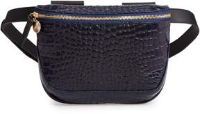 Clare Vivier Croc Embossed Leather Fanny Pack