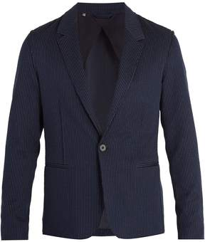 Lanvin Single-breasted pinstriped cotton blazer