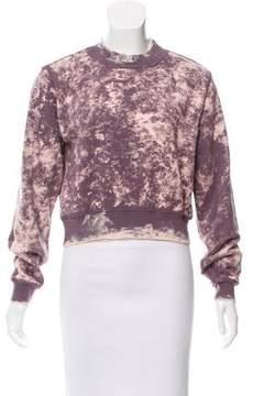 Cotton Citizen Distressed Crop Sweatshirt
