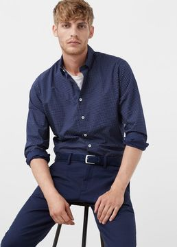 Mango Outlet Slim-fit printed shirt