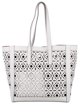 Max Mara Perforated Leather Tote
