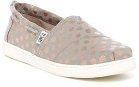 Toms Bimini Foil Polka Dot Slip-On Sneaker (Little Kid & Big Kid)
