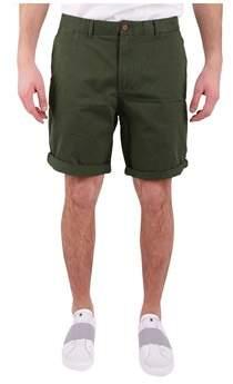 Scotch & Soda Men's Green Cotton Shorts.