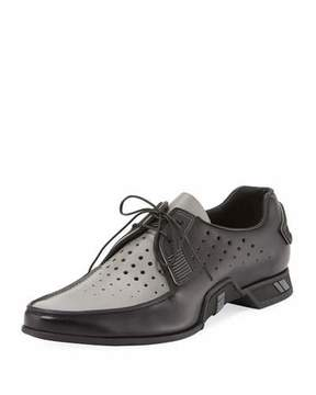 Prada Two-Tone Spazzolato Lace-Up Loafer