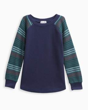 Splendid Little Boy Stripe Sleeve Raglan Tee