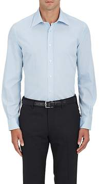 Luciano Barbera Men's Micro-Checked Cotton Shirt