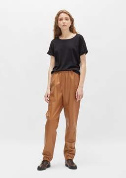 Dusan Dušan Leather Tapered Pant Hazelnut Size: Small