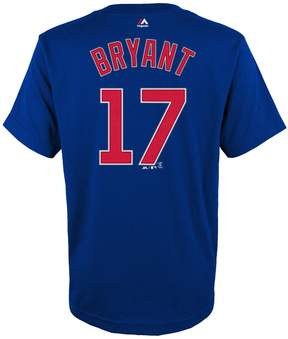 Majestic Boys 4-18 Chicago Cubs Kris Bryant Player Name and Number Tee