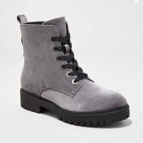 Mossimo Women's Rihanna Velvet Combat Boots