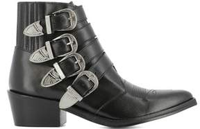 Toga Pulla Women's Black Leather Ankle Boots.