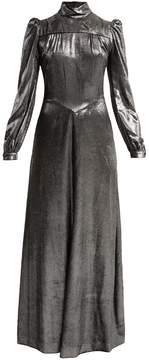 Bella Freud Anjelica high-neck velvet dress