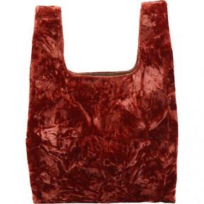 Hayward Orange Velvet Handbag