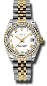 Rolex Datejust Lady 31 White Dial Stainless Steel and 18K Yellow Gold Jubilee Bracelet Automatic Watch