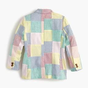 J.Crew Boys' Ludlow blazer in patchwork seersucker
