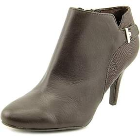 Alfani Womens Gabry Leather Almond Toe Ankle Fashion Boots.