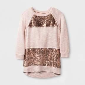 Miss Chievous Girls' 3/4 Sleeve Sweatshirt - Pink