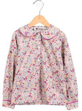 Rachel Riley Girls' Floral Print Long Sleeve Top