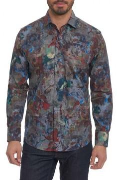 Robert Graham Men's Big Nova Classic Fit Print Sport Shirt