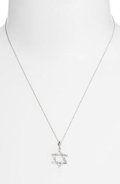 Bony Levy Women's Diamond Star Of David Pendant Necklace (Nordstrom Exclusive)