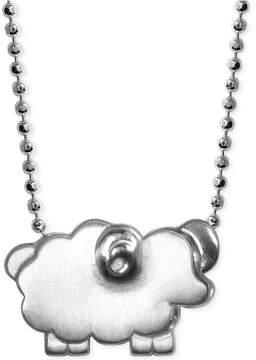 Alex Woo Little Sheep Zodiac Pendant Necklace in Sterling Silver