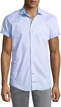 English Laundry Classic-Fit Seashelll Short-Sleeve Sport Shirt