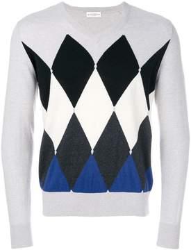Ballantyne argyle pattern knit sweater