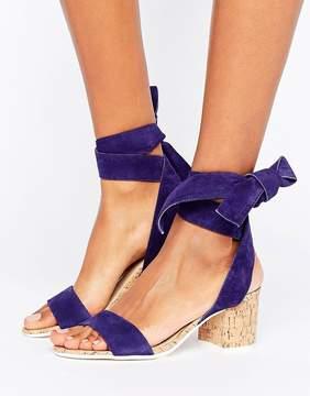 Dune London Jonee Suede Wraparound Block Heel Sandals