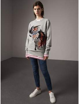 Burberry Unisex Beasts Leather Appliqué Cotton Sweatshirt