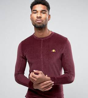 Ellesse Velour Sweatshirt With Small Logo