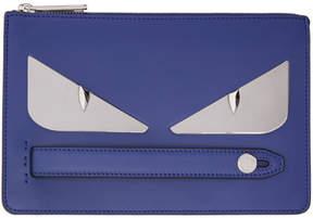 Fendi Blue Bag Bugs Clutch