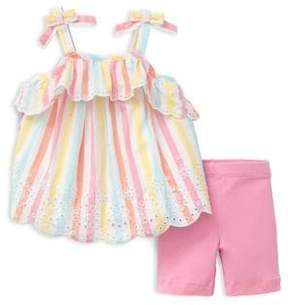 Little Me Baby Girl's Two-Piece Eyelet Top and Leggings Set